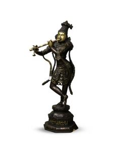 Krishna Standing on Tripple Base W/ Mala