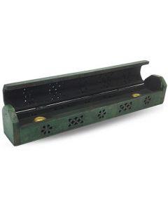 Wooden Incense Box Green 30cm