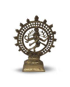 Brass Shiva nataraj double ring 22.5cm